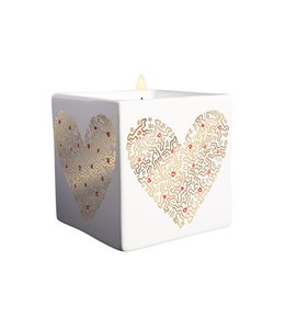 Keith Haring Gold Heart Square Candle 260g