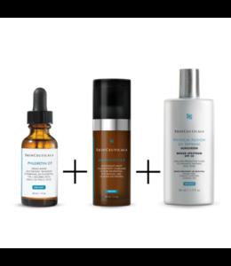 SkinCeuticals Trio CF Phloretin +Resveratrol  B E + Physical Fusion UV Defense FPS 50