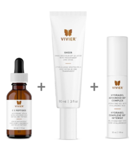 Vivier Trio CE Peptides | Sheer  FPS 45 + bonus Hydragel