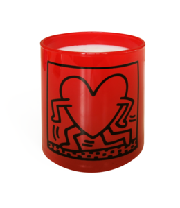 Keith Haring Red Running Heart Candle 140g