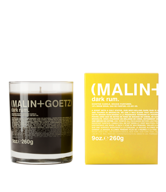 (MALIN+GOETZ) Bougie Dark Rum 9oz/260g