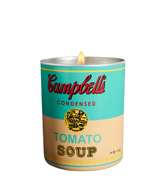 Andy  Warhol Campbell's Turquoise/Yellow Candle 140g