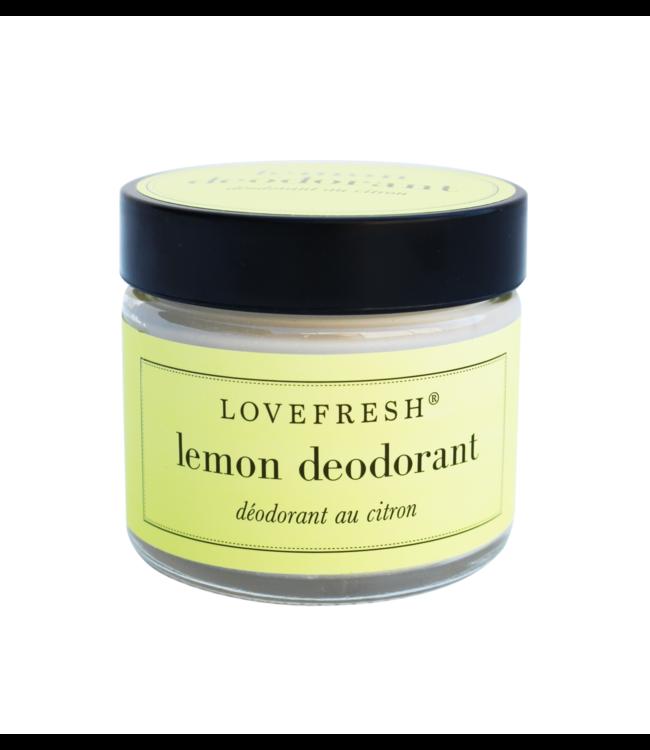 LoveFresh Déodorant en pot - Citron 2oz