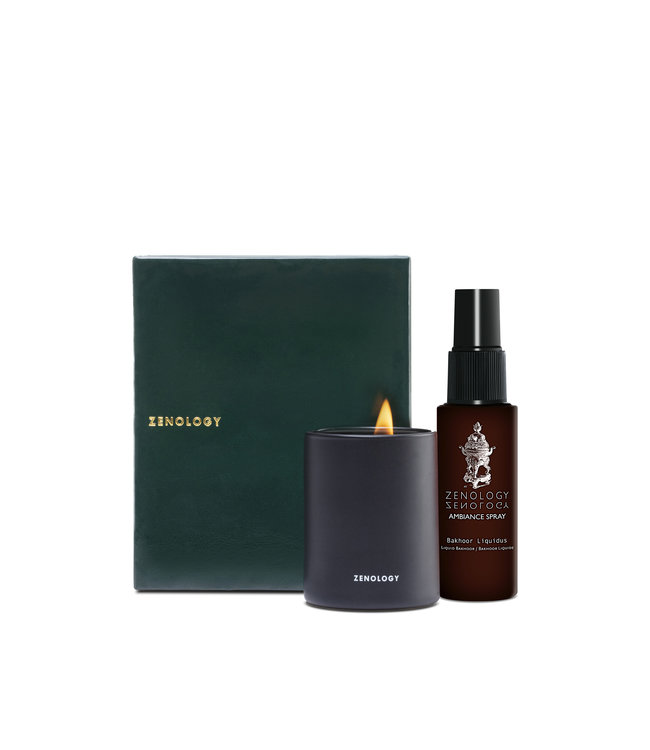 Zenology Bakhoor Travel Set | Spray & Scented Candle