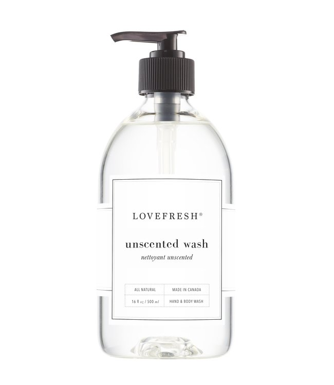 LoveFresh Unscented Hand & Body Wash 16fl. oz