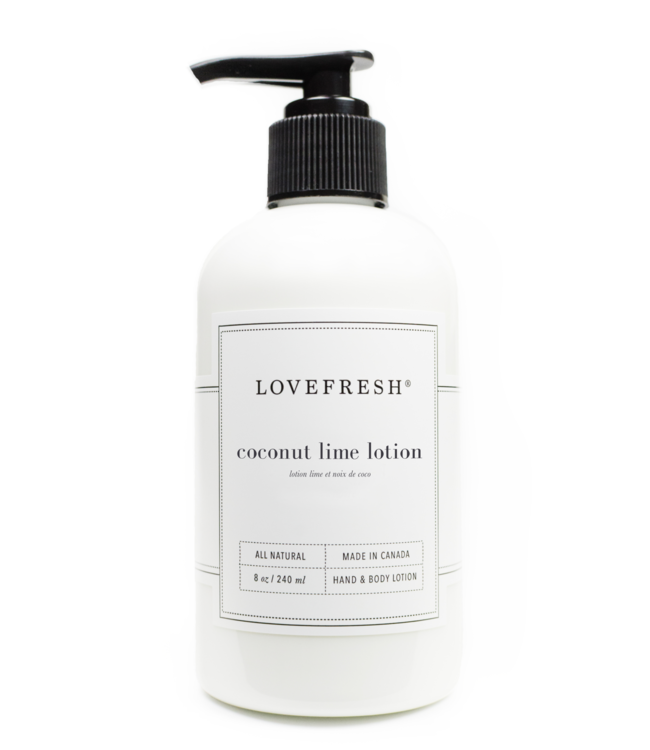 LoveFresh Lotion - Lime et noix de coco 8fl. oz
