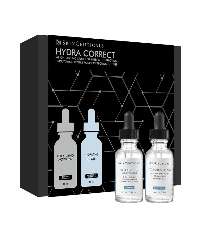 SkinCeuticals Hydra Correct - Retexturing Activator 15ml & Hydrating B5 Gel 15ml