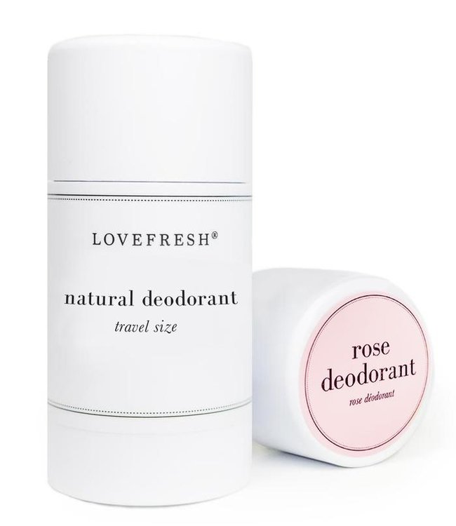 LoveFresh Rose Deodorant Travel 1.0oz