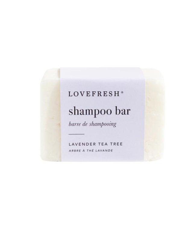 LoveFresh Barre de shampooing - arbre à thé lavande