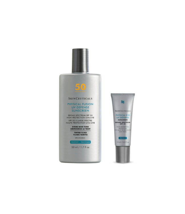 SkinCeuticals Duo Physical Fusion UV Defense FPS 50 + Physical UV Defense Yeux FPS 50