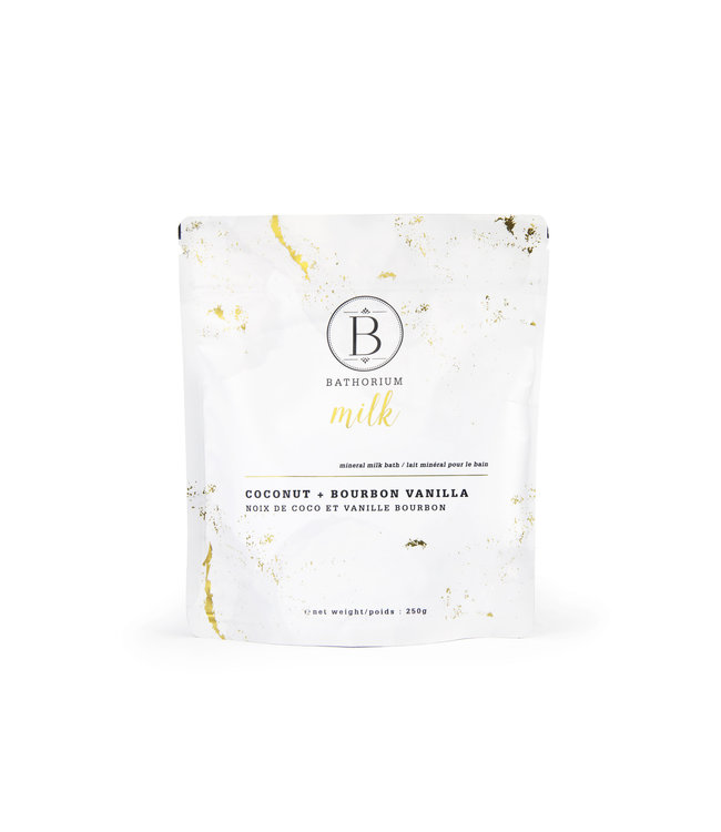 Bathorium Coconut + Bourbon Vanilla Mineral Milk Bath 250g