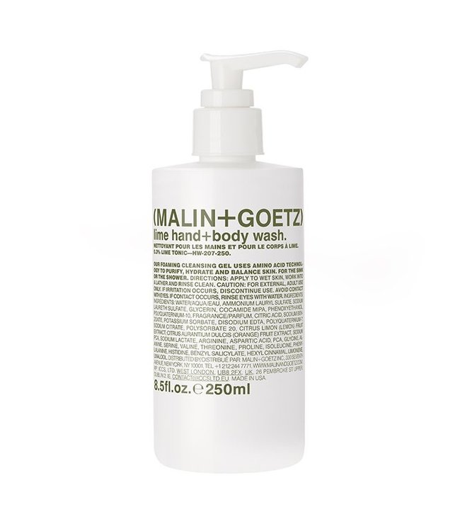 (MALIN+GOETZ) Gel nettoyant mains et corps Lime 8.5oz / 250m