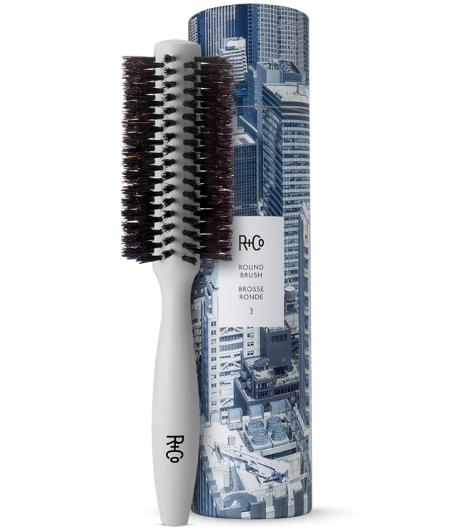 R+CO Brosse ronde poils sangliers 2.1'' moyenne #3