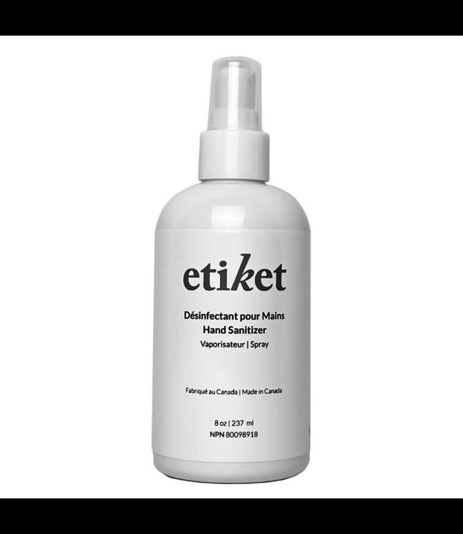 Etiket Désinfectant pour les mains 8 oz | 237 ml
