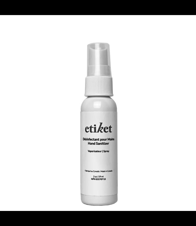 Etiket Spray Hand Sanitizer 2oz | 59ml