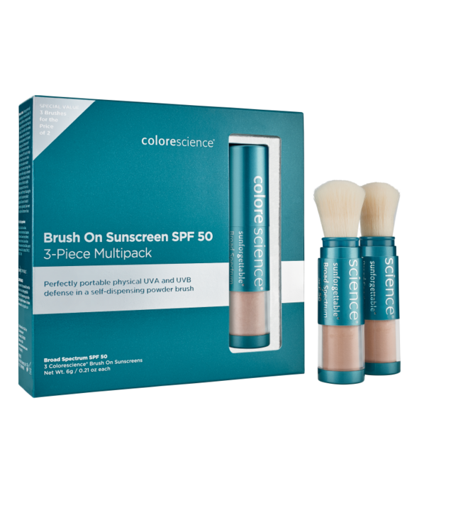 Colorescience EnviroScreen™ Protection Multi-Pack: 3 Brushes SPF 50 Medium
