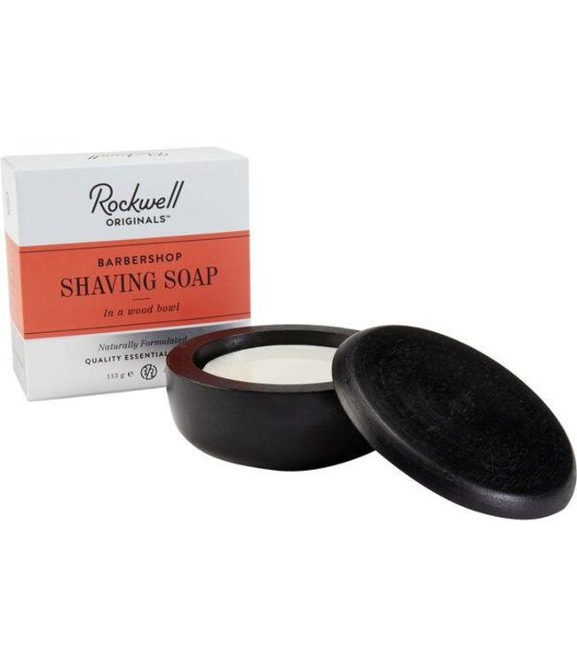 Rockwell Razors Shave Soap & Wooden Bowl 113g