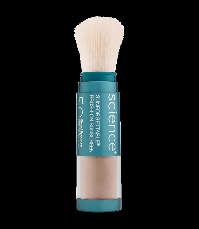 Colorescience Brosse Sunforgettable® de teinte MEDIUM  avec protection EnviroScreen™ en poudre FPS 50
