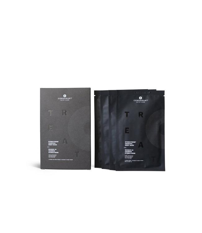 Consonant HydrExtreme Charcoal Sheet Mask Box of 4 masks