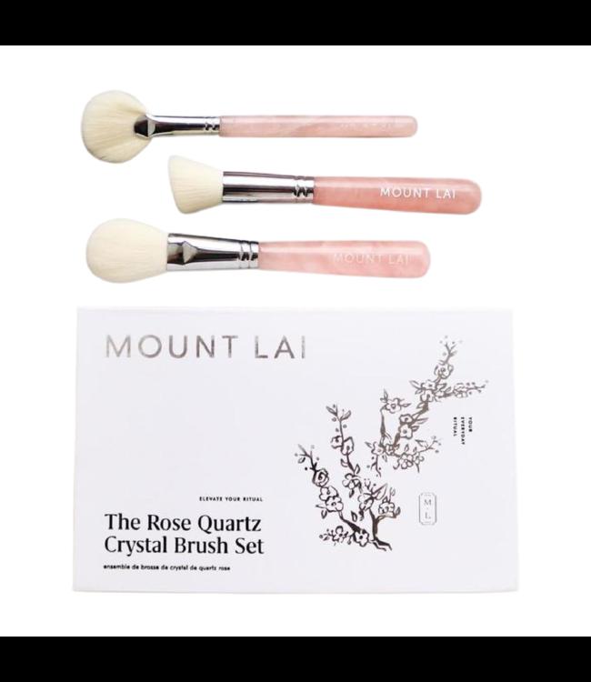 Mount Lai The Rose Quartz Crystal Brush Set