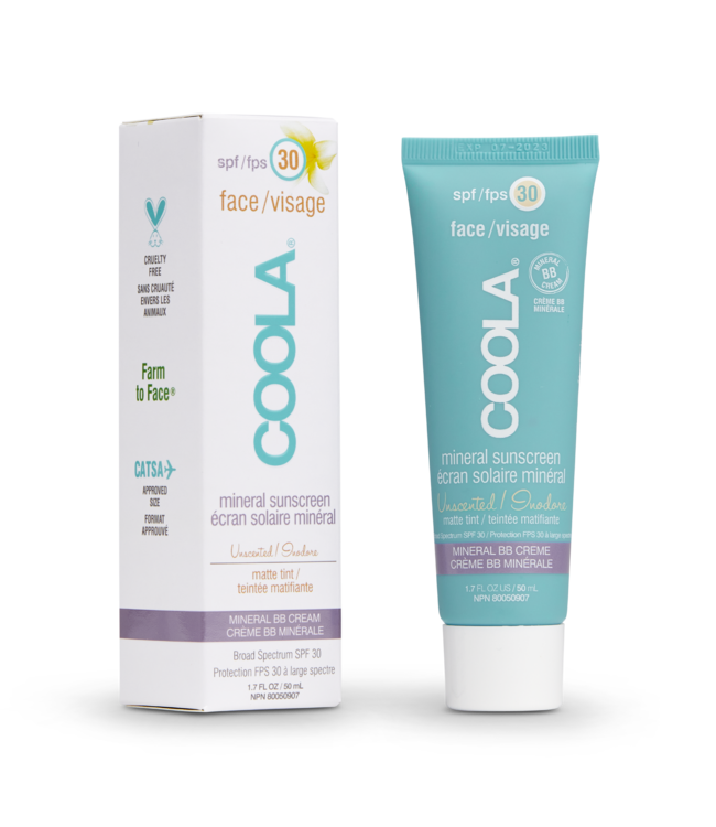 COOLA Mineral Sunscreen SPF 30 Matte Tint 50ml