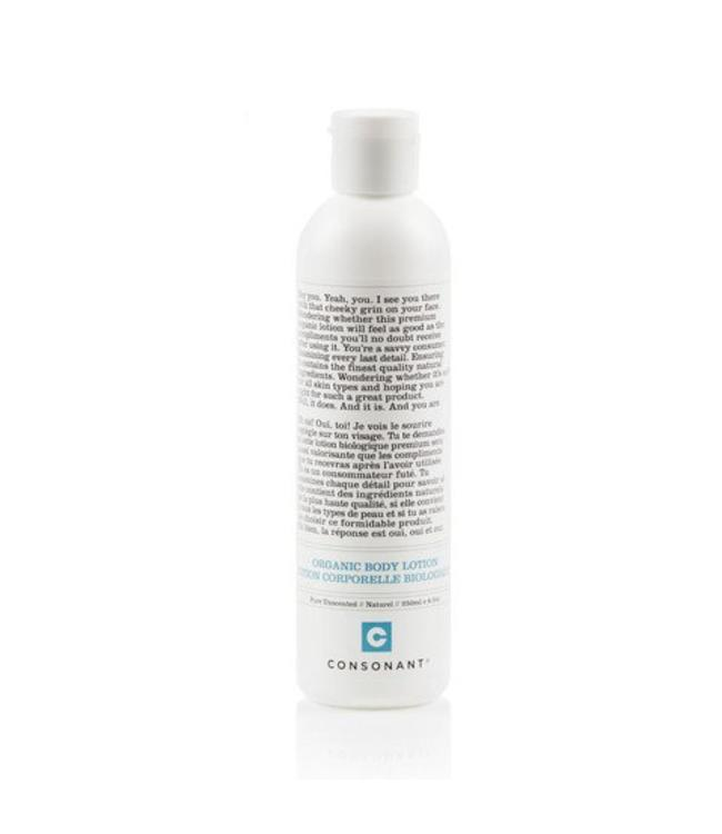Consonant Organic Body Lotion - Pure Unscented 250ml