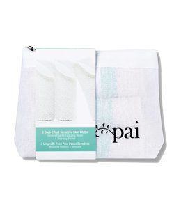 Pai Skincare Dual Effect Sensitive Face Cloth - pack of 3