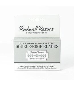 Rockwell Razors Lames de rasoir à double tranchant - 20 unités