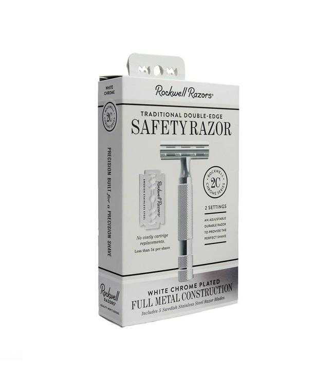 Rockwell Razors 2C Adjustable Safety Razor White Chrome
