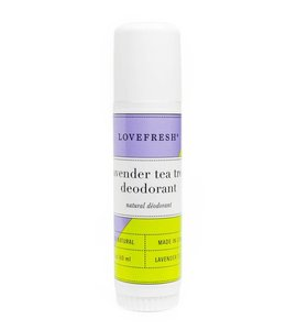 LoveFresh Lavender Tea Tree Deodorant Travel size 0.5oz