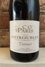 "2016 CG Paris Chiroubles ""Terroir"", 750ml"