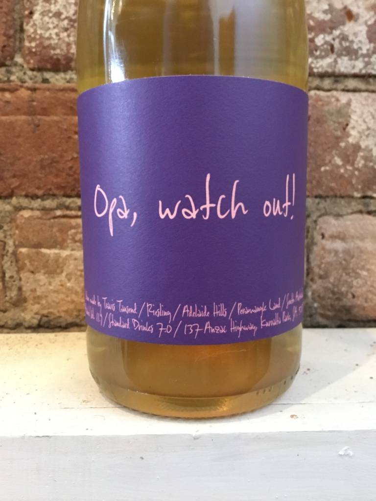 """2017 Travis Tausend """"Opa Watch Out!"""" Riesling, 750ml"""