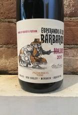 """2017 Esperando a Los """"Barbaros"""" Malbec, 750ml"""