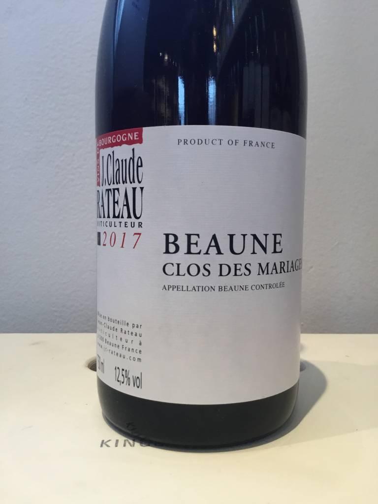 """2017 Jean-Claude Rateau Beaune """"Clos des Mariages"""" Rouge, 750ml"""