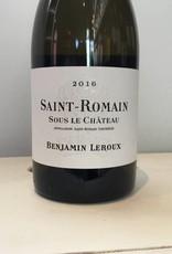 "2016 Benjamin Leroux St. Romain ""Sous le Chateau"" Blanc, 750ml"