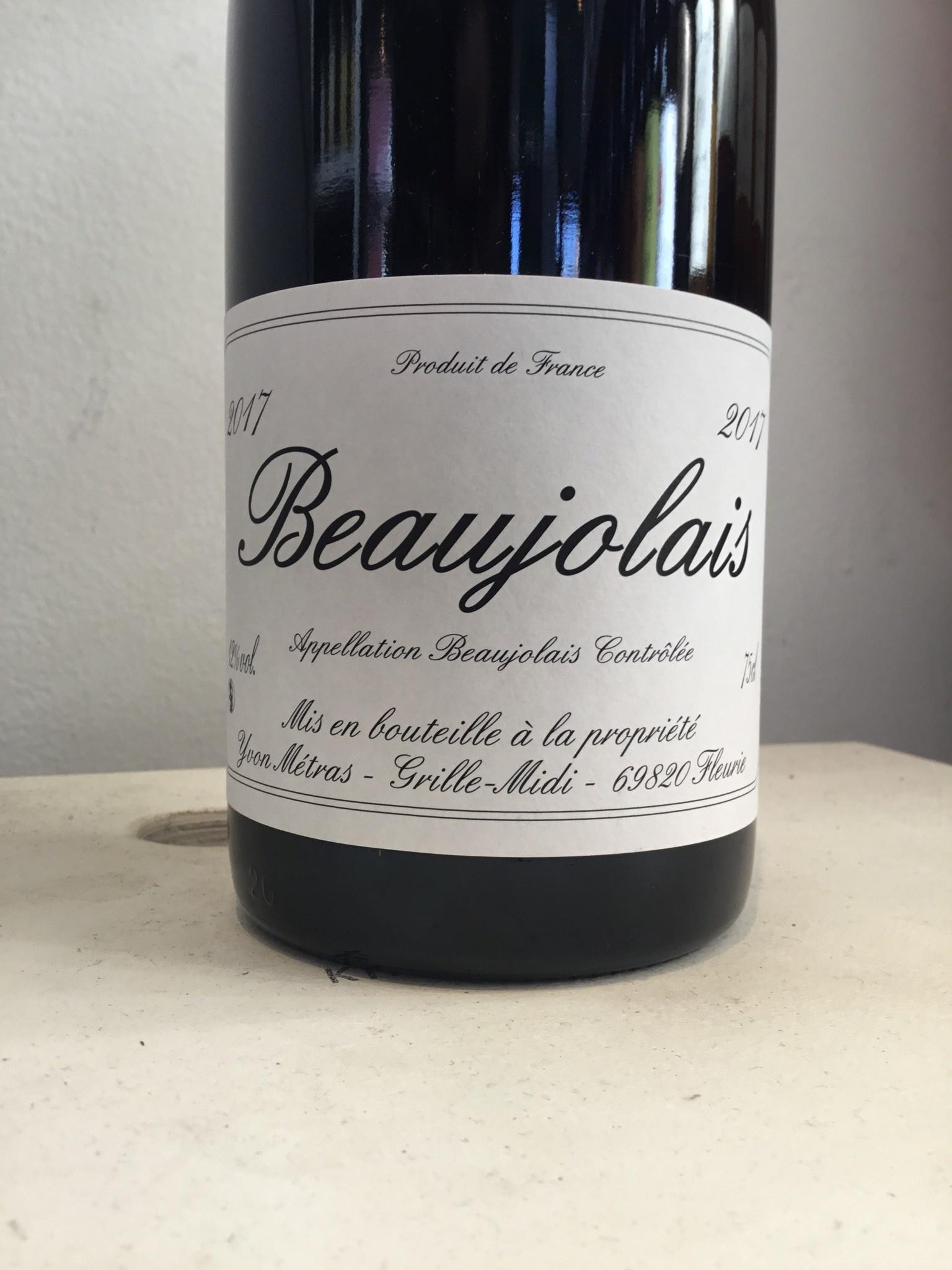 2017 Yvon Metras Beaujolais, 750ml