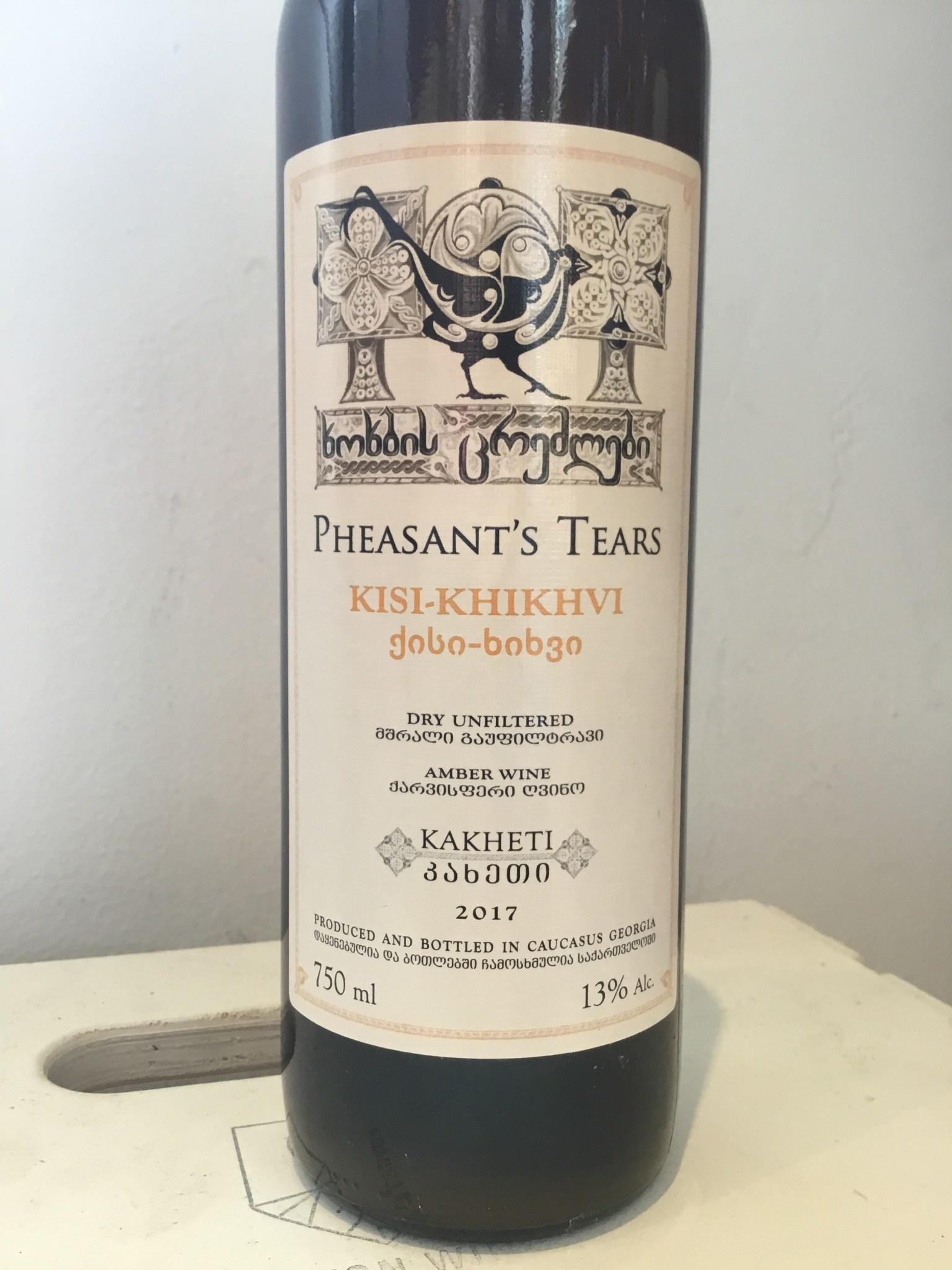 2017 Pheasant's Tears Kisi-Khikhvi, 750ml