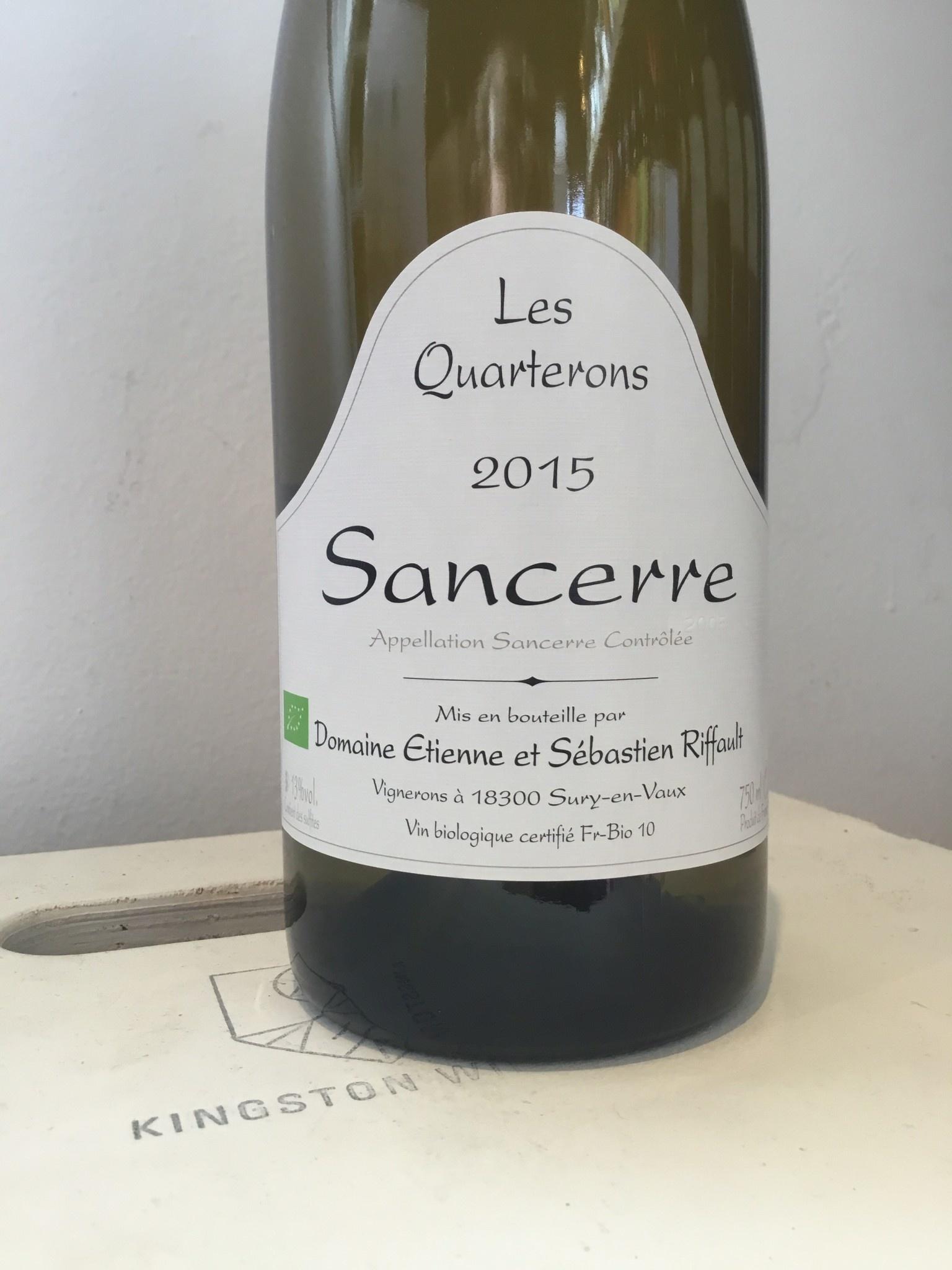 """2016 Domaine Riffault Sancerre """"Les Quarterons"""" Blanc, 750ml"""