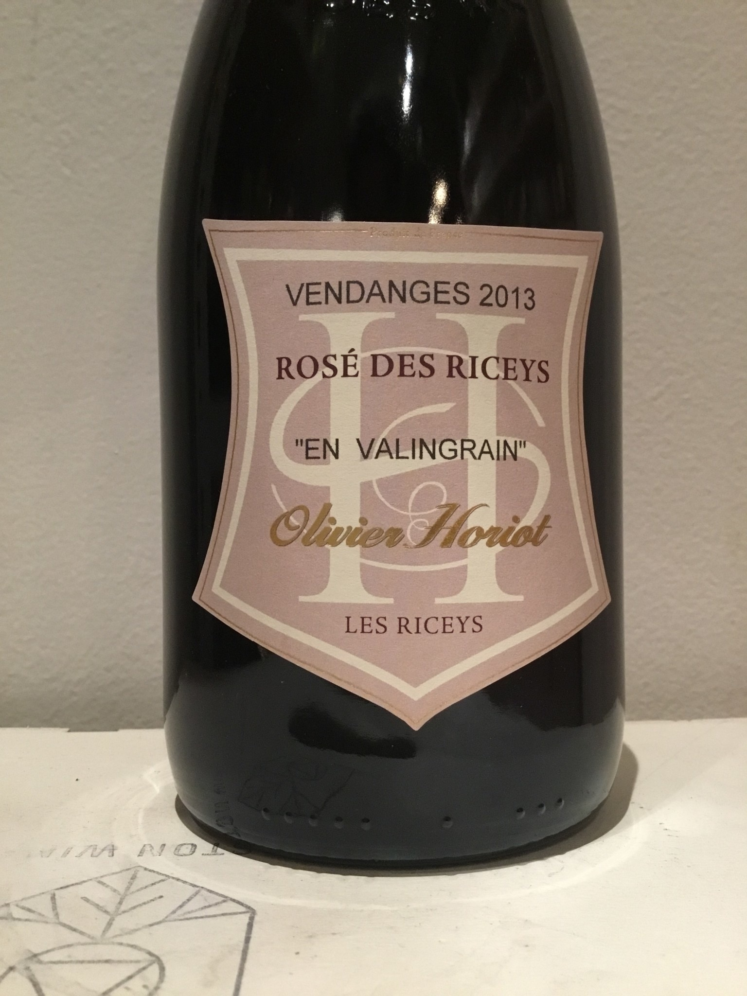 2013 Olivier Horiot Rose des Riceys en Valingrain, 750ml