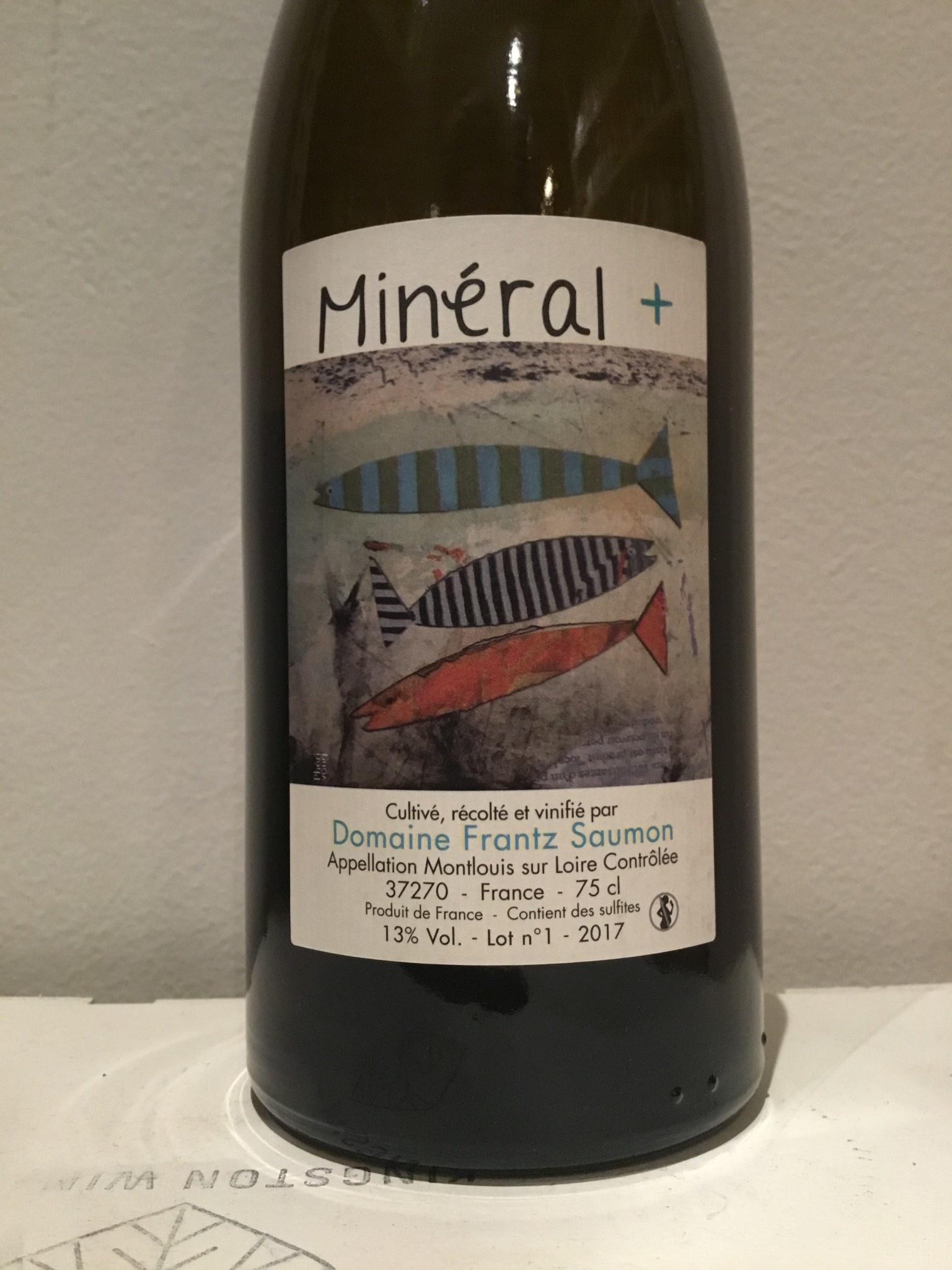 """2017 Frantz Saumon """"Mineral Plus"""" Montlouis sur Loire, 750ml"""