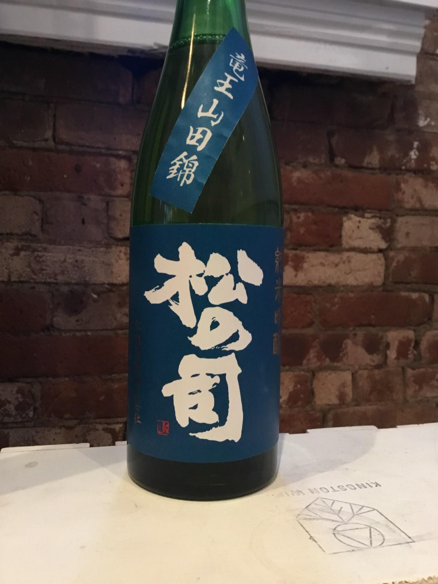"""Matsuse Shuzo """"Matsu no Tsukasa"""" Junmai Ginjo, 750ml"""