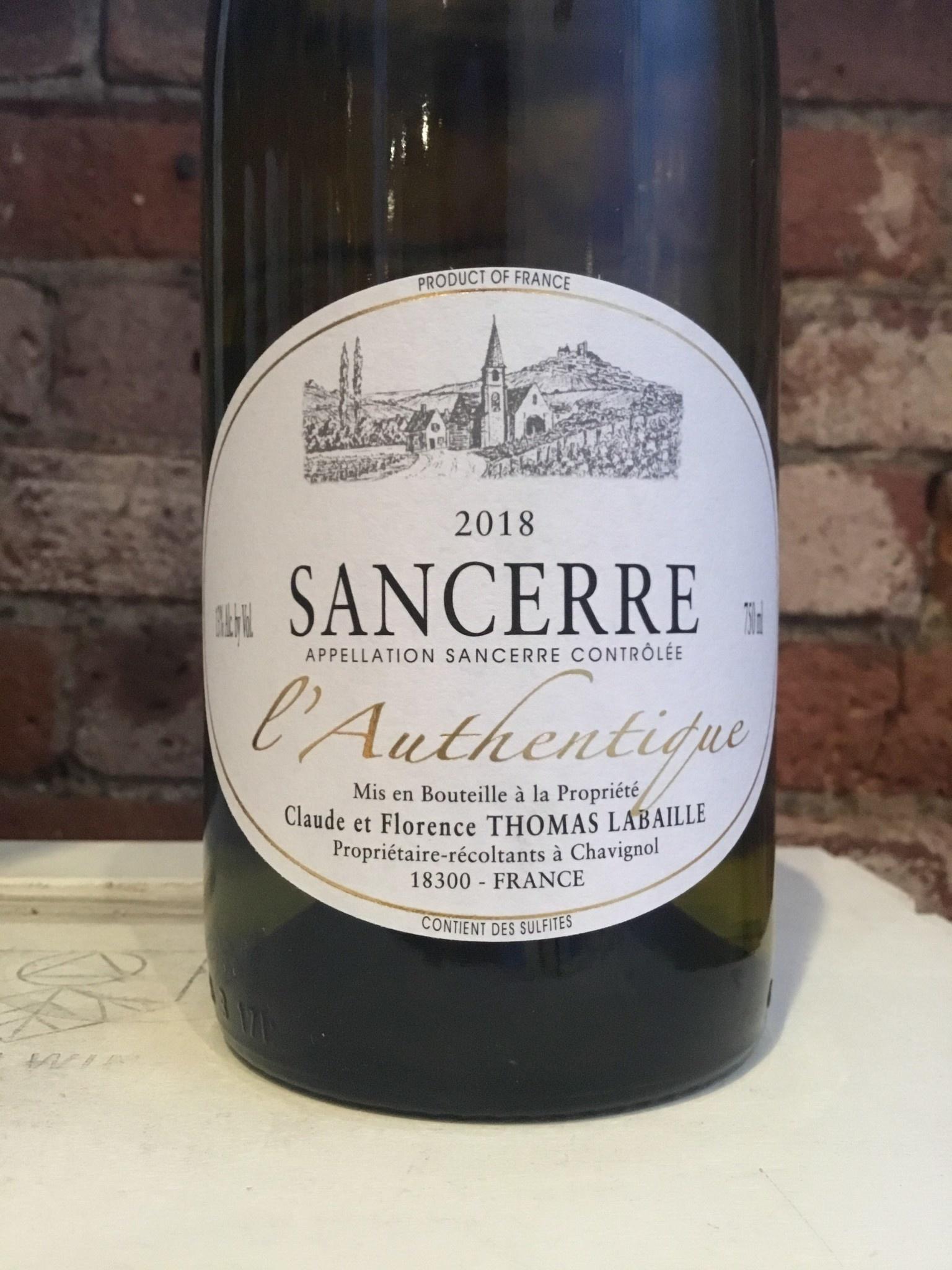 """2018  Thomas-Labaille Sancerre """"Chavignol L'Authentique"""",750ml"""