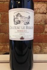 2018 Chateau Le Bergey Bordeaux Rouge, 750ml