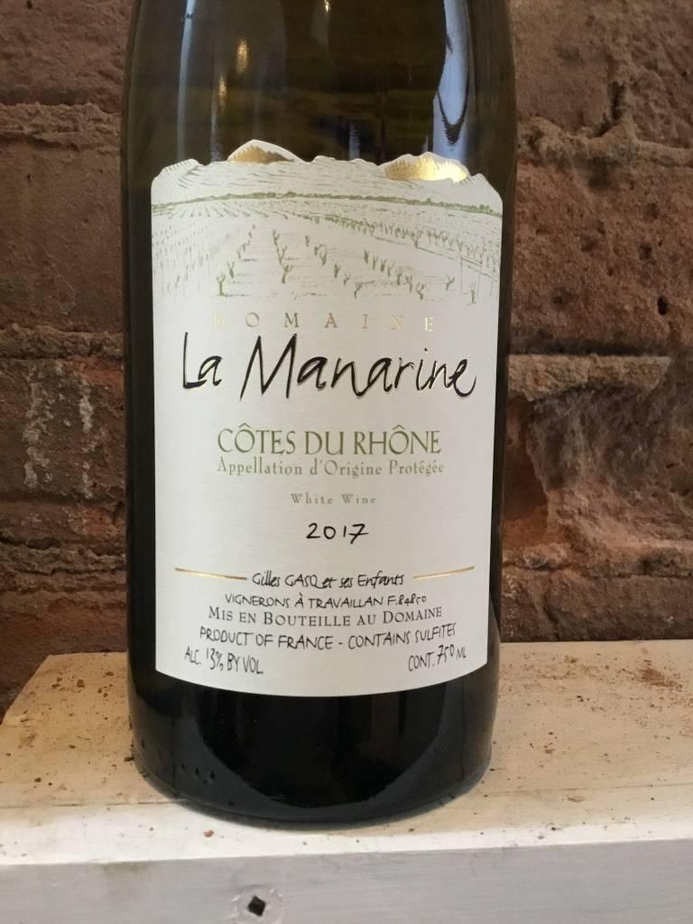 2017 Domaine de La Manarine Cotes du Rhone Blanc, 750ml