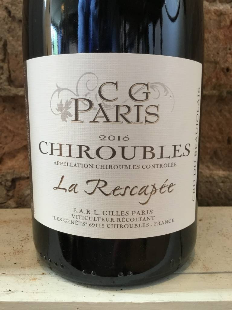 2016 CG Paris Chiroubles La Rescapee,750ml