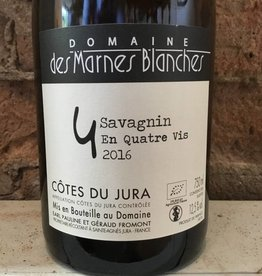 """2016 Domaine des Marnes Blanches Cotes du Jura Savignin """"En Quatre Vis"""",750ml"""