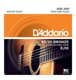 D'addario D'addario EJ10 80/20 Ex. Light