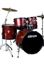 DDRUM 5PC Drum Set Red Pinstripe