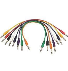 "Hot Wires Patch Cables 17"" RA 8pk"