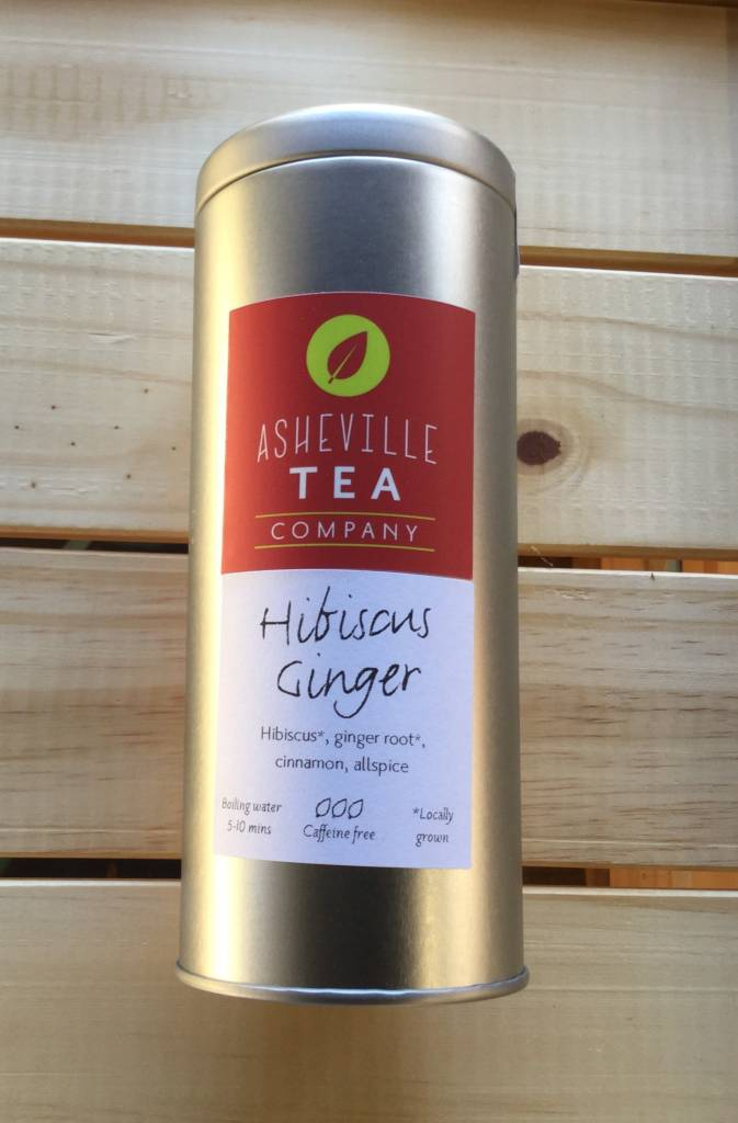Asheville Tea Company Tea Bag Tin Hibiscus Ginger